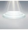 Temlate of white podium EPS 10 vector image