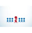 red businessman lead team leadership concept vector image