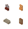 isometric furniture set of cupboard couch drawer vector image