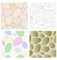 Stones Seamless Pattern Set vector image