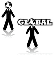 Global businessman vector image vector image