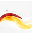 Blue orange red swirl wave lines Light design vector image