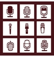 collection of Microphone icons vector image