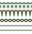 Set of exquisite filigree borders or brush vector image