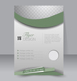 Flyer template Business brochure Editable A4 vector image