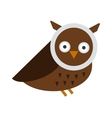 Great horned Owl bubo virginianus subarcticus vector image