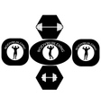 bodybuilding posters vector image