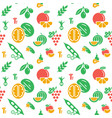 digital green yellow vegetable icons set vector image