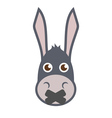 Donkey Head With Mouth Sealed vector image