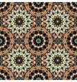 Flower Pattern Boho Brown Black Intricate vector image