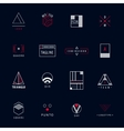 set of minimal geometric hipster logos vector image