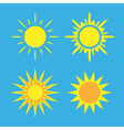 Sun icons set blue Collection vector image