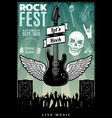 vintage rock music fest template vector image