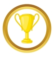 Winner trophy cup icon vector image