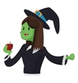 witch cartoon icon vector image