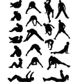 young people exercising - vector image