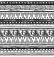 Seamless ethnic pattern Black and white vector image