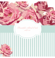 Watercolor Delicate Roses card vector image