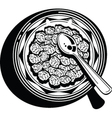 cereal bowl vector image vector image