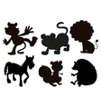Animals in black colored images vector image