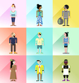 people avatar set2 vector image vector image