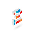 3d cube number 2 logo icon design template vector image