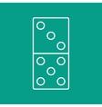 domino icon Eps10 vector image