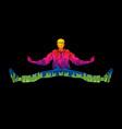 a man dancing action jumping vector image