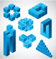 abstract design impossible objects vector image