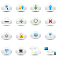 Cloud computing icons vector image