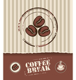 Coffee board vector image