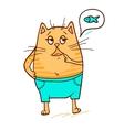 cute red kitten 4 vector image