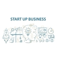 Doodle style design concept of start up business vector image