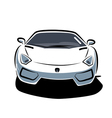 Front of sport car vector image