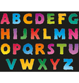multicolored letters from torn paper vector image