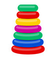 plastic pyramid for children vector image