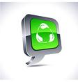 Recycle 3d balloon button vector image