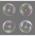 Soap bubble set vector image
