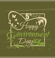 world environment day lettering card vector image