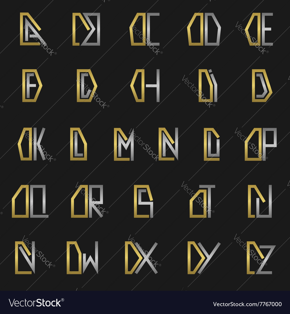 Letter d with alphabet vector