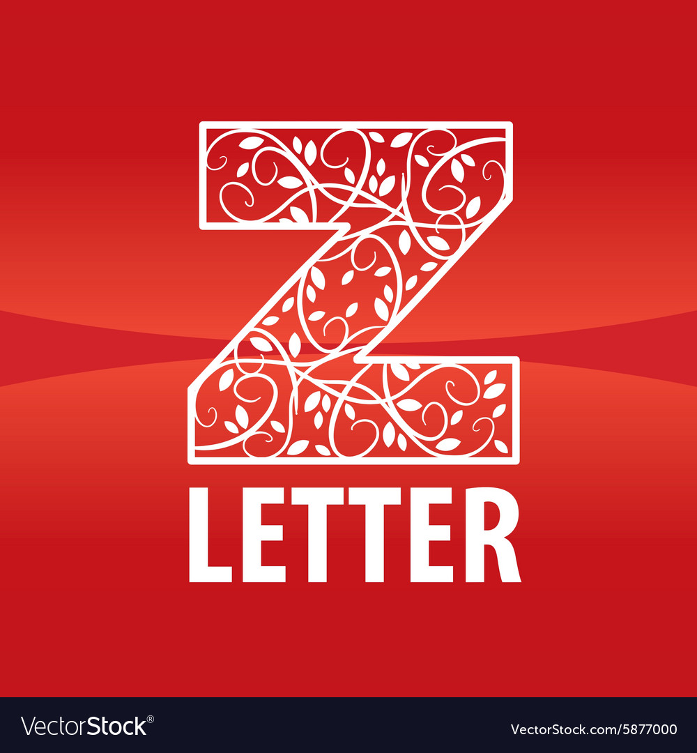Logo of the letter z floral ornament vector
