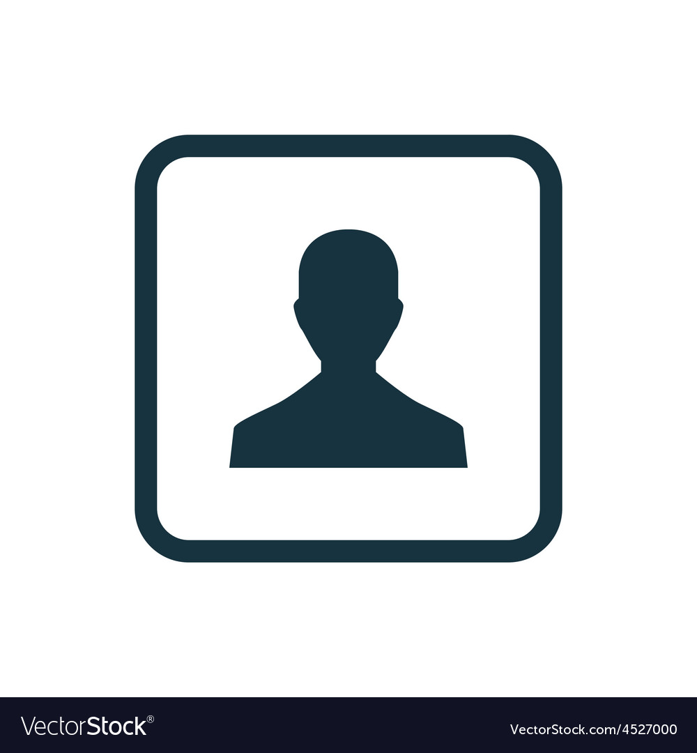 Male profile icon rounded squares button vector
