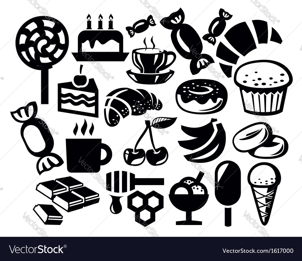 Sweet icon vector