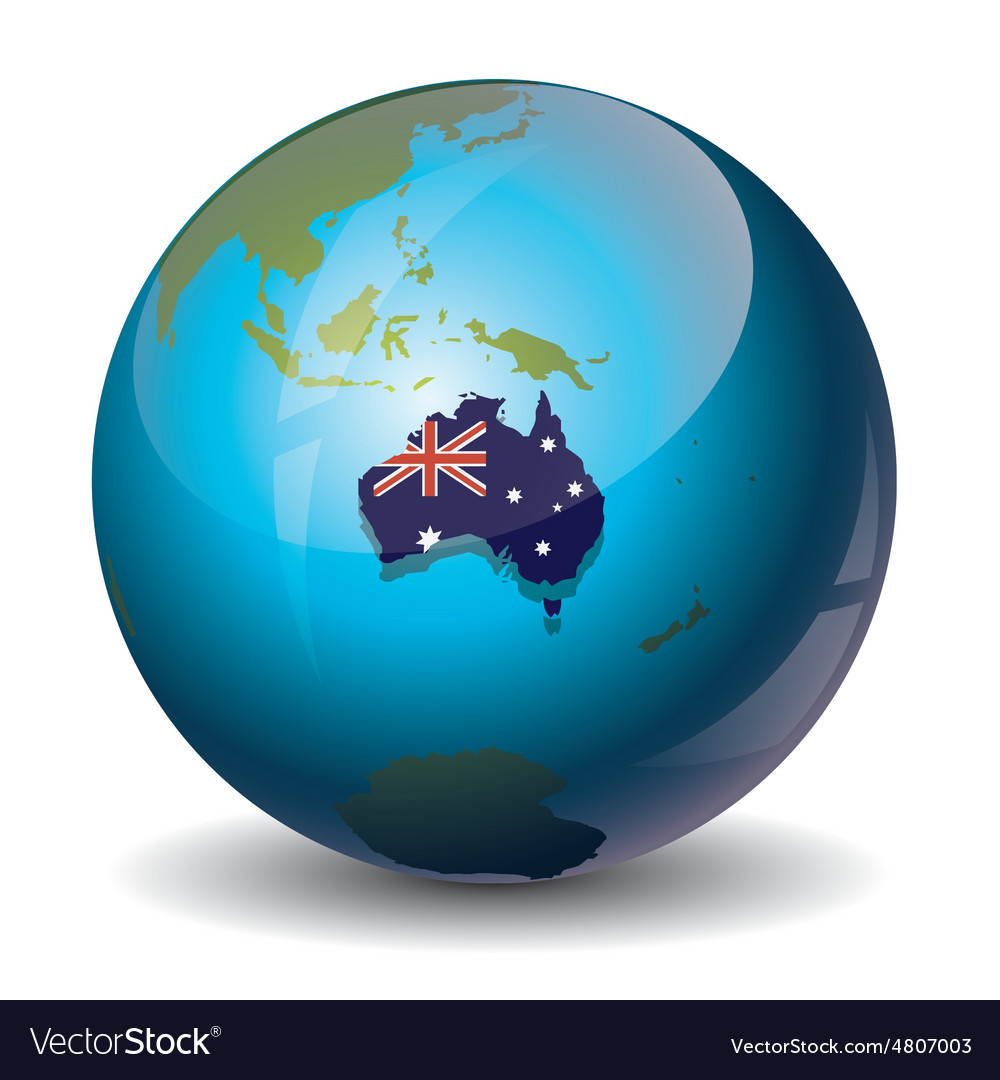 Australia of the planet vector