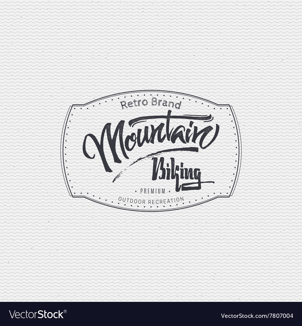 Mountain biking sign handmade differences made vector