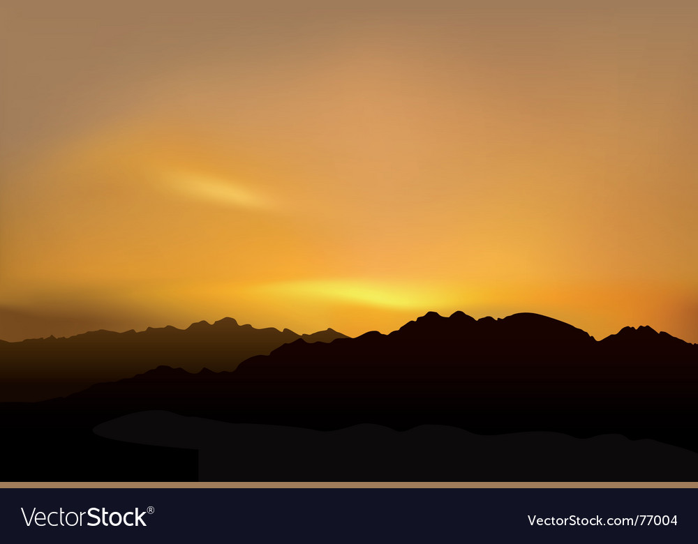 Picturesque sunset vector