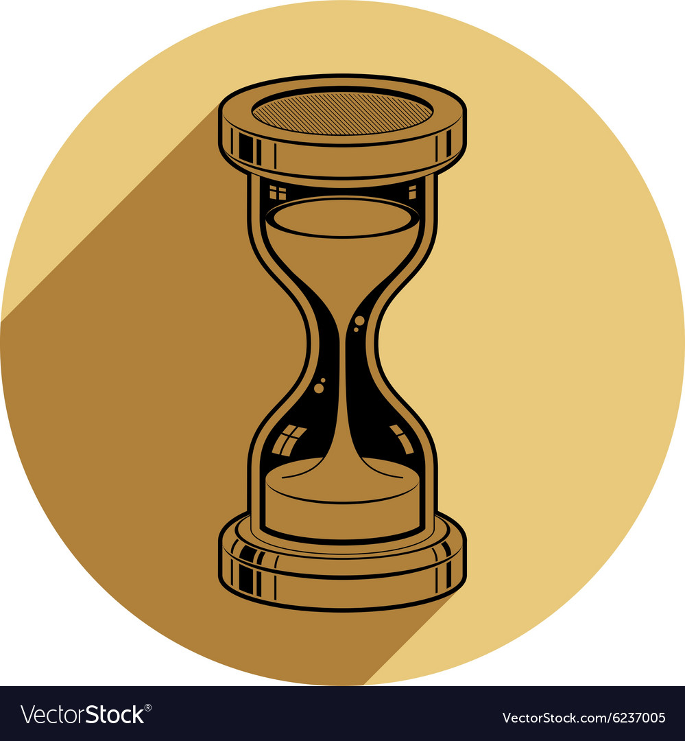Oldfashioned simple 3d hourglass time management vector