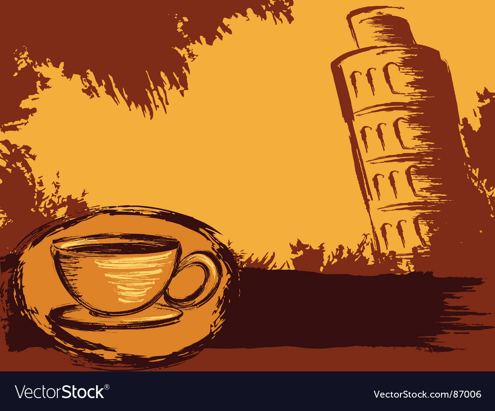 Italian coffee background vector