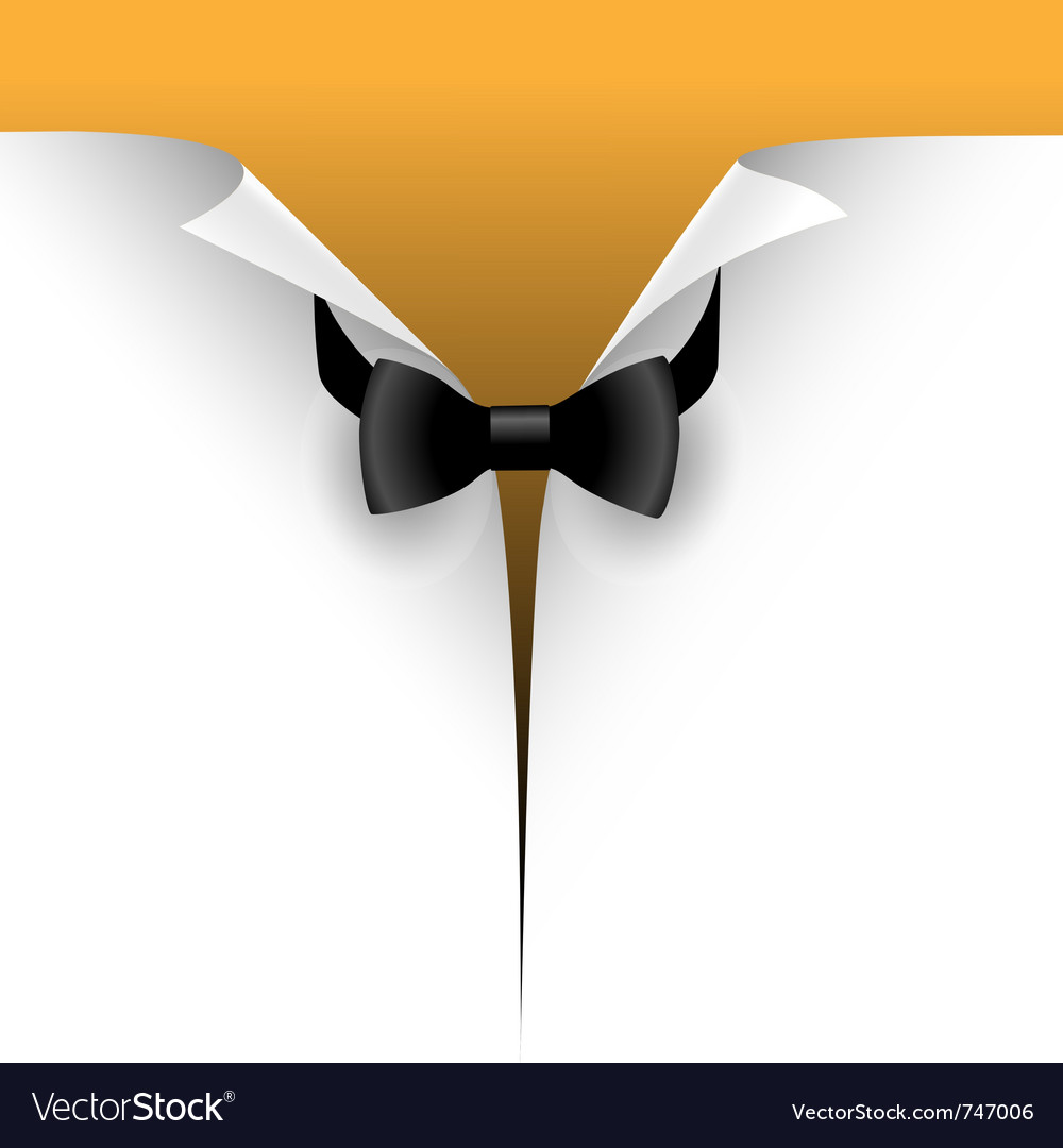 Paper with a bow tie vector
