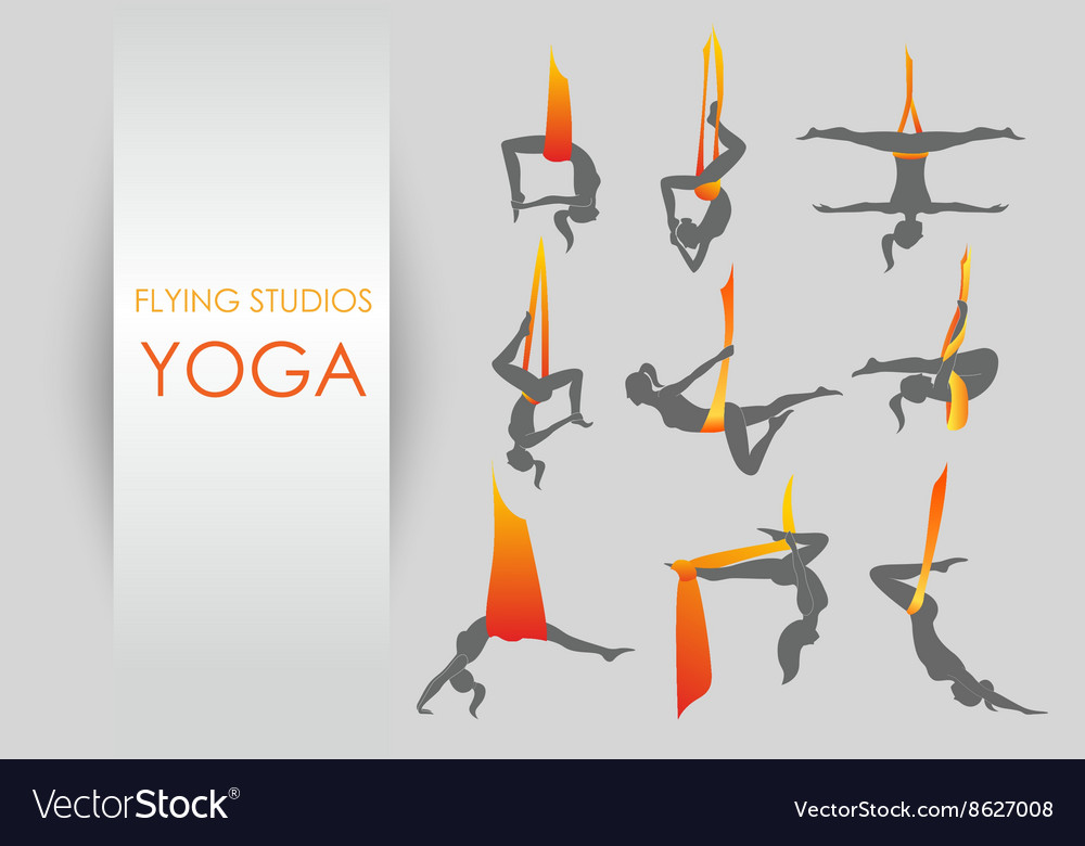 Antigravity yoga for women vector